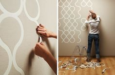 Tear-off wallpaper by Znak