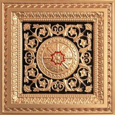 La Scala - Faux Tin Ceiling Tile - 24 in x 24 in - Drop Ceiling Tiles 2x4, Floor Ceiling, Border Tiles, Tin Tiles, Ceiling Installation, Dropped Ceiling, Ceiling Medallions, Decorative Tile, Ramen