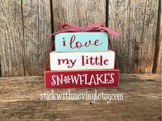 WiNTER blocks I love my little SNoWFlaKES mini by stickwithmevinyl