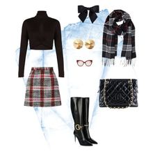 """Feeling studious"" by barb-seitz-ritchings on Polyvore featuring Gucci, BCBGMAXAZRIA, Carven, Chanel, Humble Chic, Miu Miu and Eddie Borgo"