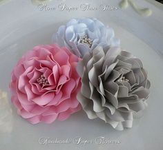 Paper Flowers Weddings Birthdays Lorinda por morepaperthanshoes