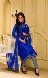 Bright Blue Color Salwar Suit For Party Wear