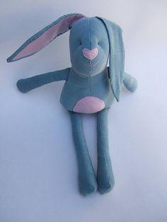 Kids stuffed rag bunny. Stuffed  bunny. Original by ThePaperNeedle, $40.00