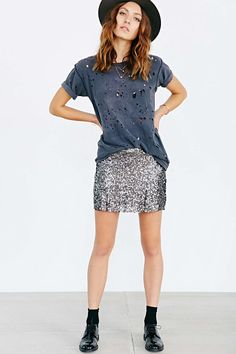 Sequin Mini Skirt - Urban Outfitters