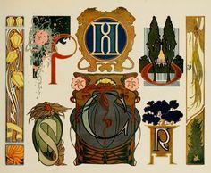 Art nouveau Ornamental Lettering