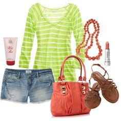 Summer beach outfit.