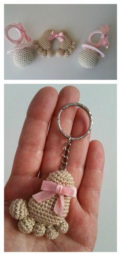 Amigurumi Baby Footprints Бесплатный шаблон для вязания крючком
