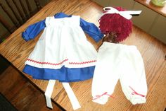 Raggedy Ann  Costume Baby or Toddler without wig by MackAbooLLC, $55.00