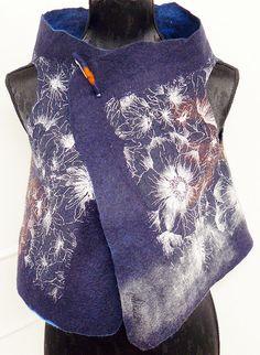 GILA-DEFENSE5 | Flickr - Photo Sharing! Textiles, Wool Suit, Nuno Felting, Handmade Felt, Felt Art, Knitting Designs, Handmade Clothes, Shawls And Wraps, Lana