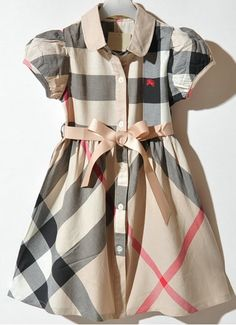 Burberry Kids 1823 Lattice Dress Beige