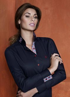 Dudalina The Office Shirts, Shirts For Girls, Satin Shirt, Beautiful Blouses, Business Outfits, Office Fashion, Collar Shirts, Fashion Wear, Business Women