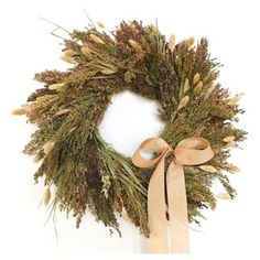 "Check out this item at One Kings Lane! 18"" Harvest Grains Wreath"
