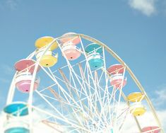 "Ferris wheel carnival photo midway county fair blue pink yellow pastel summer - ""Spinning wheel"" 8 x pastel retro diner carnival photography travel summer vibes pink Yellow Aesthetic Pastel, Rainbow Aesthetic, Summer Aesthetic, Pink Aesthetic, Photo Wall Collage, Picture Wall, Aesthetic Backgrounds, Aesthetic Wallpapers, Aesthetic Collage"