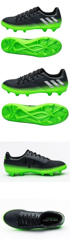 Men 109133: Adidas 2016 Messi 16.2 Fg/Ag Football Soccer Cleats Shoes Black/Green S79630 BUY IT NOW ONLY: $67.99
