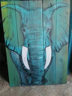 Items similar to Boho Elephant handpainted art Pallet sign, made to order, custom, handmade on Etsy Elephant Love, Elephant Art, Elephant Paintings, Wood Pallet Art, Wood Art, Painting On Wood, Painting Inspiration, Art Projects, Canvas Art