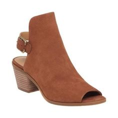 Women's Lucky Brand Bray Open Toe Bootie Toffee