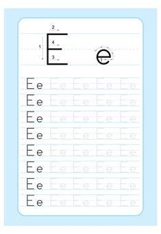 Alphabet Tracing Worksheets, Printable Preschool Worksheets, Handwriting Worksheets, Alphabet Worksheets, Kindergarten Reading Activities, Preschool Writing, Kindergarten Math Worksheets, Alphabet Writing Practice, Writing Practice Worksheets