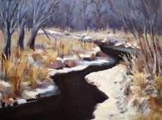 Last Winter at the Creek, painting by artist Judith Anderson