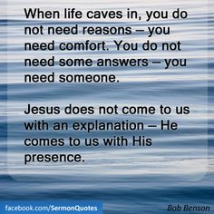 I need your presence Lord.
