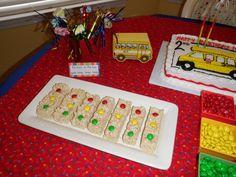 Kelli H's Birthday / School Bus Party - Photo Gallery at Catch My Party School Bus Party, Back To School Party, Party Bus, School Parties, Baby Party, 3rd Birthday Parties, Boy Birthday, Birthday Ideas, Birthday Cakes
