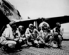 """Tuskegee airmen..  The movie """"Red Tails"""" is all about them..  not the best movie I've seen..  good visuals though I dunno about some of those maneuvers they pull.. and the depiction of the Luftwaffe officer was pretty ridiculously evil in an over done sense..  German pilots weren't all ardent Nazi's."""