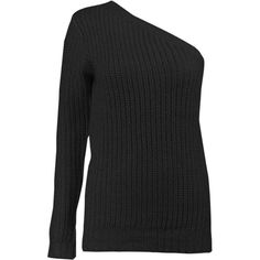 Boohoo Aimee One Shoulder Ribbed Jumper (145 SEK) ❤ liked on Polyvore featuring tops, sweaters, turtleneck sweater, ribbed knit sweater, party jumpers, nordic sweater and ribbed turtleneck