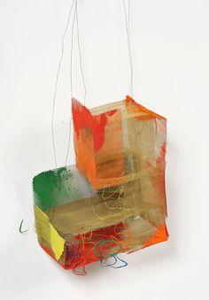 Heidemarie Herb  Necklace: Netzwerk I 2012  Melted colours, silver, pigments, brass, iron