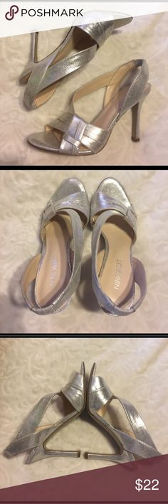 SALE TODAY ONLY Nine West heels Silvery sparkly fun. Would be good for formal or prom. Brand new, never worn Nine West Shoes Heels