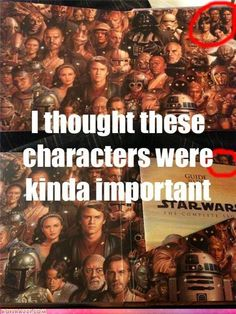 Agreed. Why is it that Jar Jar gets near center but Luke, Han, Leia & Lando get banished to the far right corner???