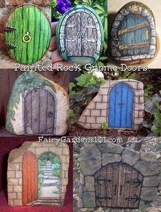 These are my favorite fairy gnome doors. If you don't know, gnome doors go on trees and fairy doors go on fairy houses. These are all made by painting rocks and coating them in polyurethane to make them weatherproof. Top … Continued