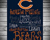 Denver Broncos House Rules 8x10 Printable by CreativeCardstock