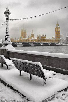snowy london...just because it's snowing today and beause I'm in love with the show Sherlock!  www.Skymosity.com
