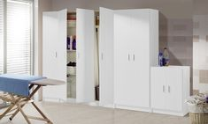 Armadio multiuso Mademoiselle Evergreen house disponibile in 4 modelli Laundry Room Utility Sink, Utility Cabinets, Laundry Room Cabinets, Laundry Room Storage, Laundry Room Design, Storage Cabinets, Tall Cabinet Storage, Cupboards, Laundry Room Pictures