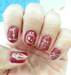 Mix and Match Gothic nail art #nailart #stamping #stnchallenges #popularsummernails #gothic