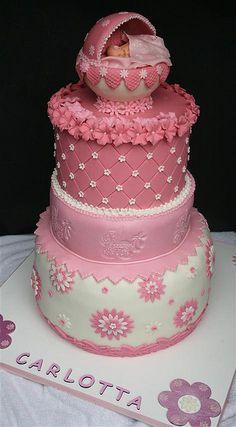 Beautiful baby shower cake