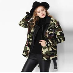 Camouflage Basic Jacket //Price: $73.50 & FREE Shipping //     #ForUrbanStyle    Check it https://4urbanstyle.com/camouflage-basic-jacket/