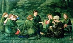 green summer, burne-jones