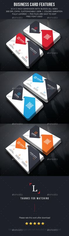 Modern Corporate Business Cards - Business Cards Print Templates