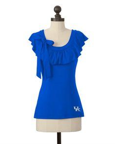 Kentucky Wildcats   Ruffle Collar Top   meesh & mia