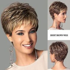 Short Hair Styles For Round Faces, Short Hairstyles For Thick Hair, Short Grey Hair, Very Short Hair, Short Straight Hair, Short Hair With Layers, Short Hair Cuts For Women, Curly Hair Styles, Modern Short Hairstyles