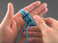How to tie a globe knot - YouTube