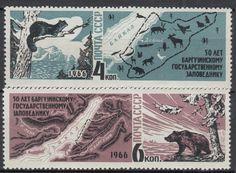 U I751 Russia 1966 Fine Stamps Wild Animals Polar Maps Bears MNH | eBay
