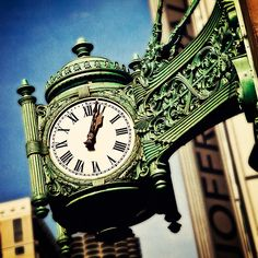 old street clock--intricate detailing