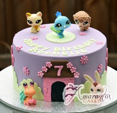 Littlest Pet Shop cake - Celebration Cakes Melbourne - Amarantos Cakes