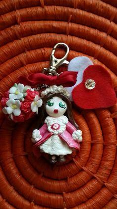 Bambolina rosa gancetto borsa e borsette