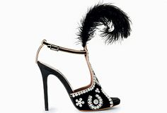 10 of the best royal buys for the Diamond Jubilee - London's alternative royal family — the pearly kings and queens — inspired these fun Tabitha Simmons shoes, made of satin, with a black feather plume and mother-of-pearl buttons. £840, exclusive to Selfridges. selfridges.com