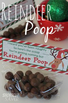 Reindeer Poop is the perfect treat idea for a classroom party or for the kids stockings. These can be made with one simple ingredient and bag toppers.