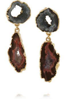 Dara Ettinger Janine gold-plated earrings | THE OUTNET