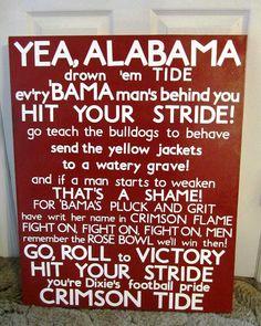 University of Alabama Fight Song Subway Art Large by SweetBegonia