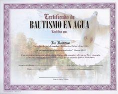 certificados de bautismo cristiano | La Roca CERTIFICADO DE BAUTISMO EN AGUA CON PALOMA (Marco morado ...